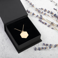 Load image into Gallery viewer, Gold Forever Necklace, Engraved Valentine's Day Jewelry, Women Love Pendant, Anniversary Gift Idea - vauus