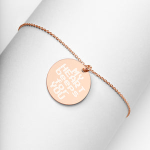 My Heart Beeps For You Engraved Rose Gold Disc Necklace for Gamer Girlfriend - vauus