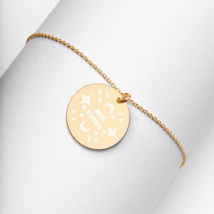Soul Sisters 24K Gold Disc Necklace Engraved Jewelry Friendship Gift - vauus