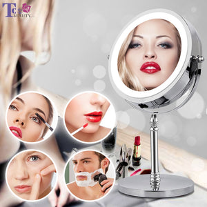 MAKEUP MIRROR WITH LED LIGHT COSMETIC