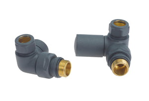CORNER ANTHRACITE TOWEL RAIL VALVES
