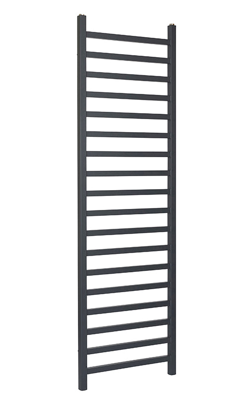LUISA ANTHRACITE SQUARE BAR TOWEL RAIL