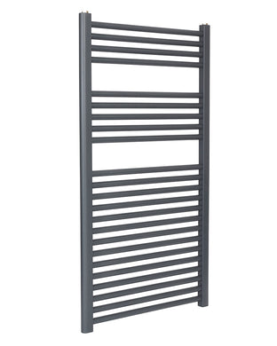 Straight Anthracite Towel Rail