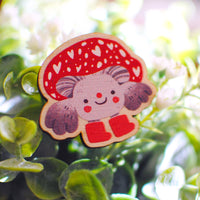 Wooden pin - Mushroom Friend