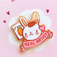 You are a real artist - Rose Gold Hard Enamel Pin