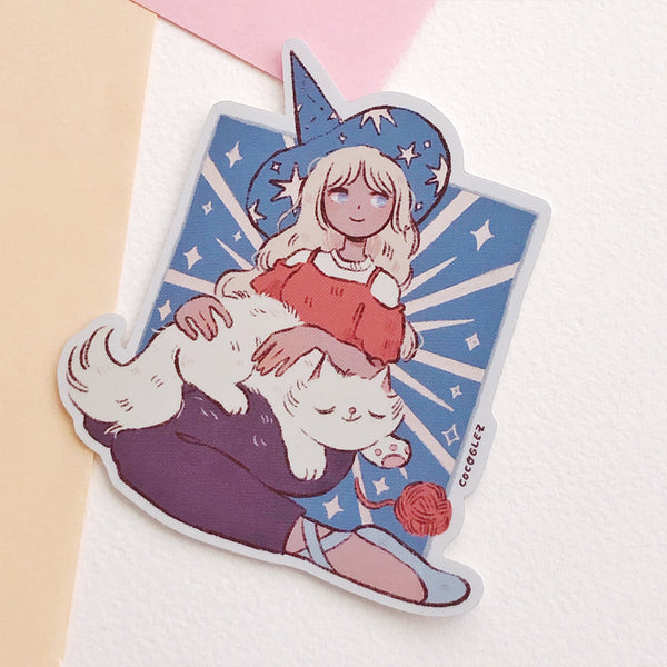 White Cat - Holo Vinyl sticker
