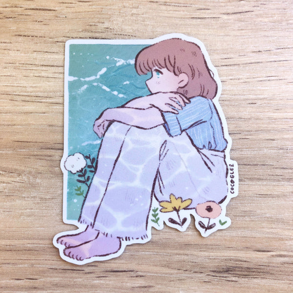 By the Sea - Holo Vinyl sticker