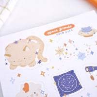 Space Friends - Vinyl sticker sheet