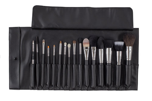 16 Piece Brush Roll - Bodyography® Professional Cosmetics