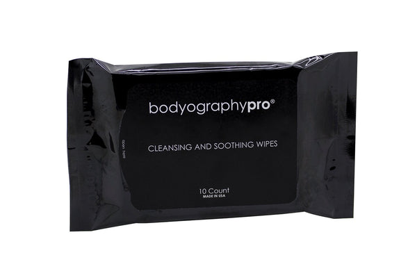 Travel Size Cleansing and Soothing Wipes - Bodyography® Professional Cosmetics