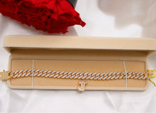 Load image into Gallery viewer, Cuban link initial anklet