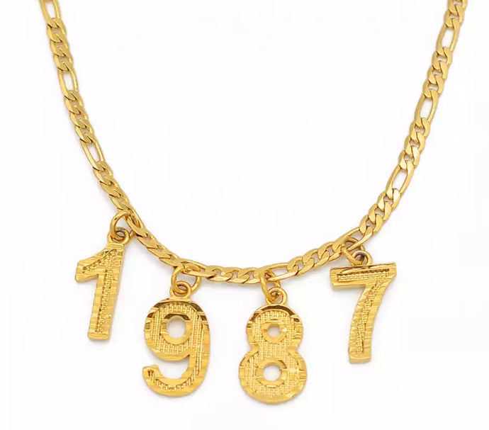 Rep your year custom necklace