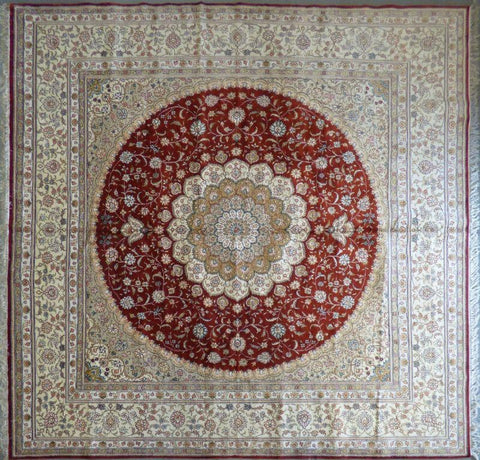 "Amazing Turkish Silk Oriental Hand-Knotted Traditional Area Rug with Finest Quality and Design  10'0"" X 10'0"" ABCTKS-10"