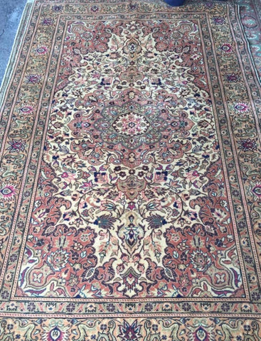 "Authentic Hand Knotted Turkish Rugs Collection Traditional Hand-Knotted Pattern Oriental Wool Area Rug  6'6""  X  9'6"" ABCRT-TK033"