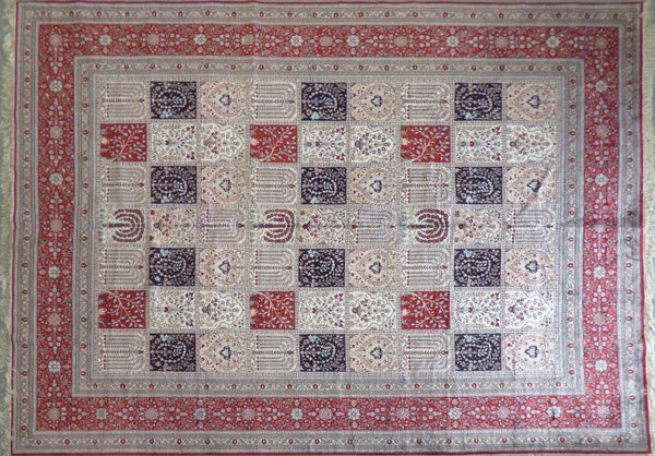 "Amazing Turkish Silk Oriental Hand-Knotted Traditional Area Rug with Finest Quality and Design  12'0"" X 10'0"" ABCTKS-12"
