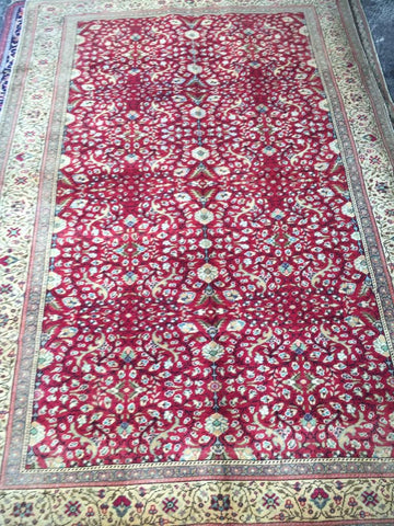 "Authentic Hand Knotted Turkish Rugs Collection Traditional Hand-Knotted Pattern Oriental Wool Area Rug  6'6""  X  9'6"" ABCRT-TK036"