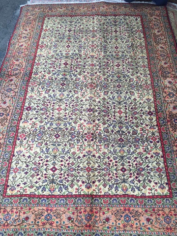 "Authentic Hand Knotted Turkish Rugs Collection Traditional Hand-Knotted Pattern Oriental Wool Area Rug  6'6""  X  9'6"" ABCRT-TK039"