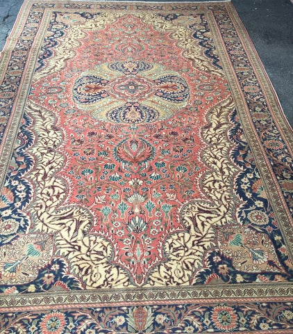 "Authentic Hand Knotted Turkish Rugs Collection Traditional Hand-Knotted Pattern Oriental Wool Area Rug   6'6""  X  9'6"" ABCRT-TK042"