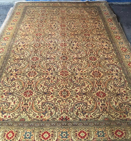 "Authentic Hand Knotted Turkish Rugs Collection Traditional Hand-Knotted Pattern Oriental Wool Area Rug  6'6""  X  9'6"" ABCRT-TK045"