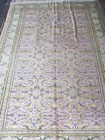 "Authentic Hand Knotted Turkish Rugs Collection Traditional Hand-Knotted Pattern Oriental Wool Area Rug  6'6""  X  9'6"" ABCRT-TK048"