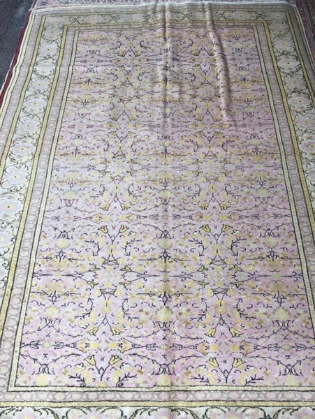 "Authentic Hand Knotted Turkish Rugs Collection Traditional Hand-Knotted Pattern Oriental Wool Area Rug  5'0"" X  8'0""  ABCRT-TK047"