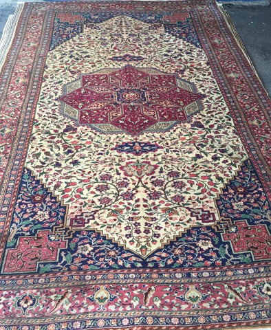 "Authentic Hand Knotted Turkish Rugs Collection Traditional Hand-Knotted Pattern Oriental Wool Area Rug  6'6""  X  9'6"" ABCRT-TK051"