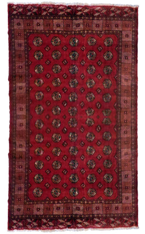 IRANIAN TORKMAN HAND-KNOTTED RUG MADE WITH NATURAL WOOL & COTTON COLOR RED 282 X 277cm ABC502