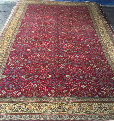 "Authentic Hand Knotted Turkish Rugs Collection Traditional Hand-Knotted Pattern Oriental Wool Area Rug  6'6""  X  9'6"" ABCRT-TK060"