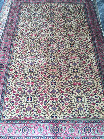 "Authentic Hand Knotted Turkish Rugs Collection Traditional Hand-Knotted Pattern Oriental Wool Area Rug  6'6""  X  9'6"" ABCRT-TK063"
