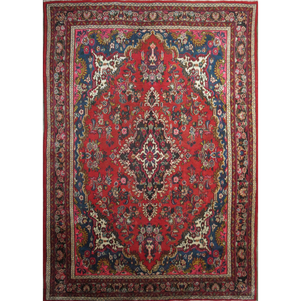 "Persian hamedan Authentic Hand-Knotted Traditonal Vintage Persian Rugs Natural Wool and Cotton Multicolor Area Rug  10'0"" X 6'0"" ABC-PER-386"