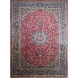 "Persian najafabad Authentic Hand-Knotted Traditonal Vintage Persian Rugs Natural Wool and Cotton Multicolor Area Rug  13'5"" X 9'9"" ABC-PER-389"
