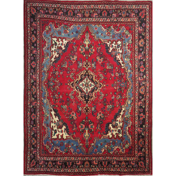 "Persian hamedan Authentic Hand-Knotted Traditonal Vintage Persian Rugs Natural Wool and Cotton Multicolor Area Rug  0'10"" X 7'3"" ABC-PER-416"