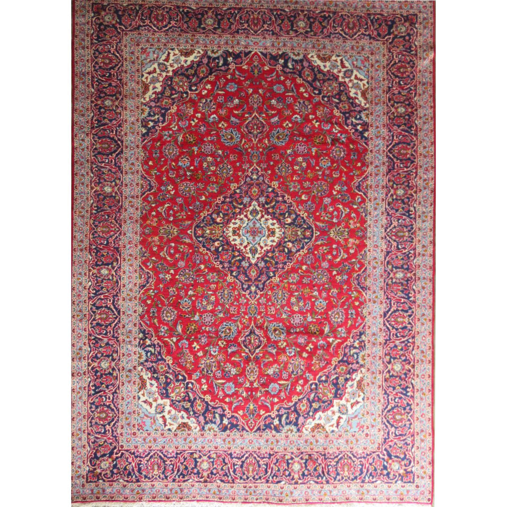 "Persian ardakan Authentic Hand-Knotted Traditonal Vintage Persian Rugs Natural Wool and Cotton Multicolor Area Rug  13'3"" X 9'4"" ABC-PER-557"
