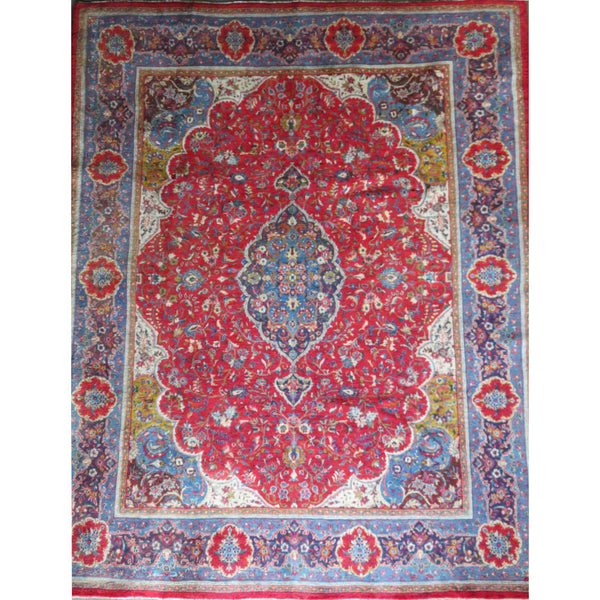 "Persian ardakan Authentic Hand-Knotted Traditonal Vintage Persian Rugs Natural Wool and Cotton Multicolor Area Rug  12'5"" X 9'9"" ABC-PER-570"