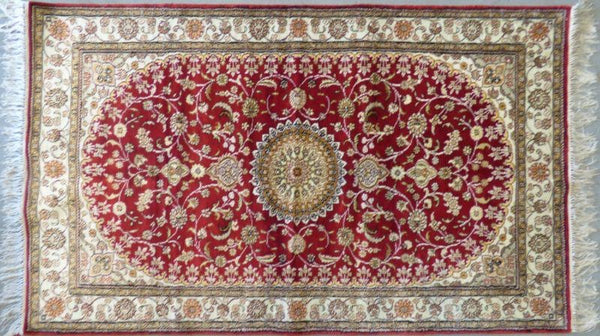 "Amazing Turkish Silk Oriental Hand-Knotted Traditional Area Rug with Finest Quality and Design  5'0"" X 3'0"" ABCTKS-5"