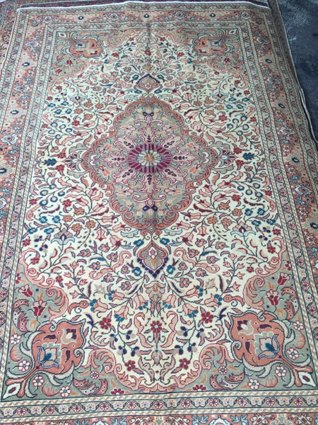 "Authentic Hand Knotted Turkish Rugs Collection Traditional Hand-Knotted Pattern Oriental Wool Area Rug  5'0"" X  8'0"" ABCRT-TK014"