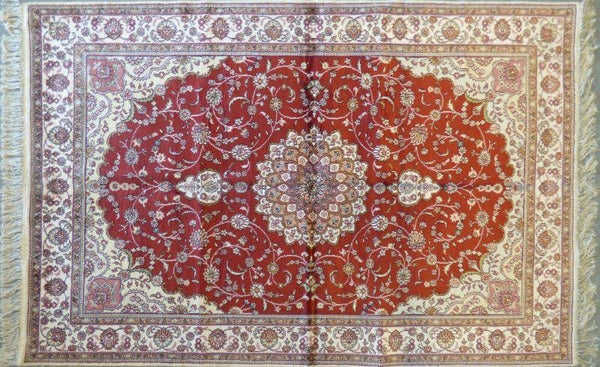 "Amazing Turkish Silk Oriental Hand-Knotted Traditional Area Rug with Finest Quality and Design  6'6"" X 3'6"" ABCTKS-6"