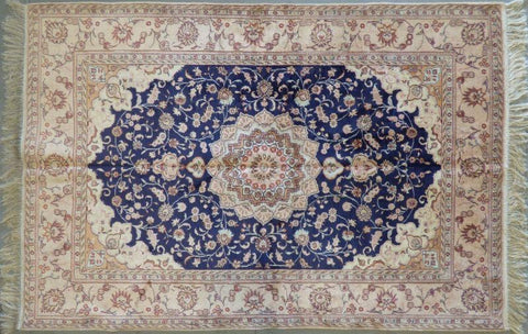 "Amazing Turkish Silk Oriental Hand-Knotted Traditional Area Rug with Finest Quality and Design  6'6"" X 3'6"" ABCTKS-7"