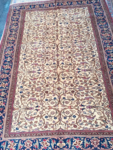 "Authentic Hand Knotted Turkish Rugs Collection Traditional Hand-Knotted Pattern Oriental Wool Area Rug  6'6""  X  9'6"" ABCRT-TK021"