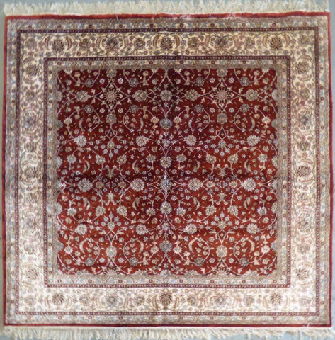 "Amazing Turkish Silk Oriental Hand-Knotted Traditional Area Rug with Finest Quality and Design  6'6"" X 5'0"" ABCTKS-8"