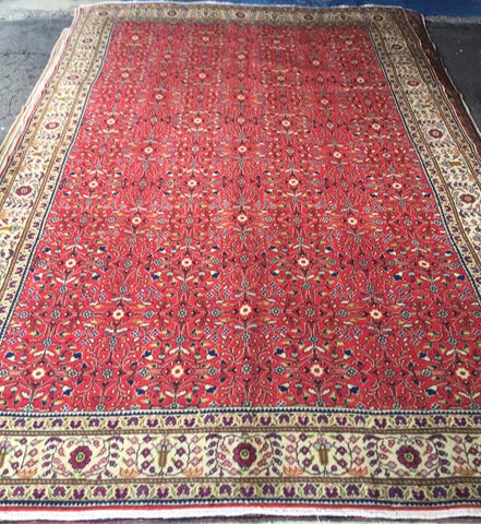 "Authentic Hand Knotted Turkish Rugs Collection Traditional Hand-Knotted Pattern Oriental Wool Area Rug  6'6""  X  9'6"" ABCRT-TK024"