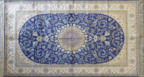 "Amazing Turkish Silk Oriental Hand-Knotted Traditional Area Rug with Finest Quality and Design  8'0"" X 5'0"" ABCTKS-9"