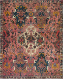 "Persian hamedan Authentic Hand-Knotted Traditonal Vintage Persian Rugs Natural Wool and Cotton Multicolor Area Rug  5'10"" X 4'7"" ABC-PER-2225"