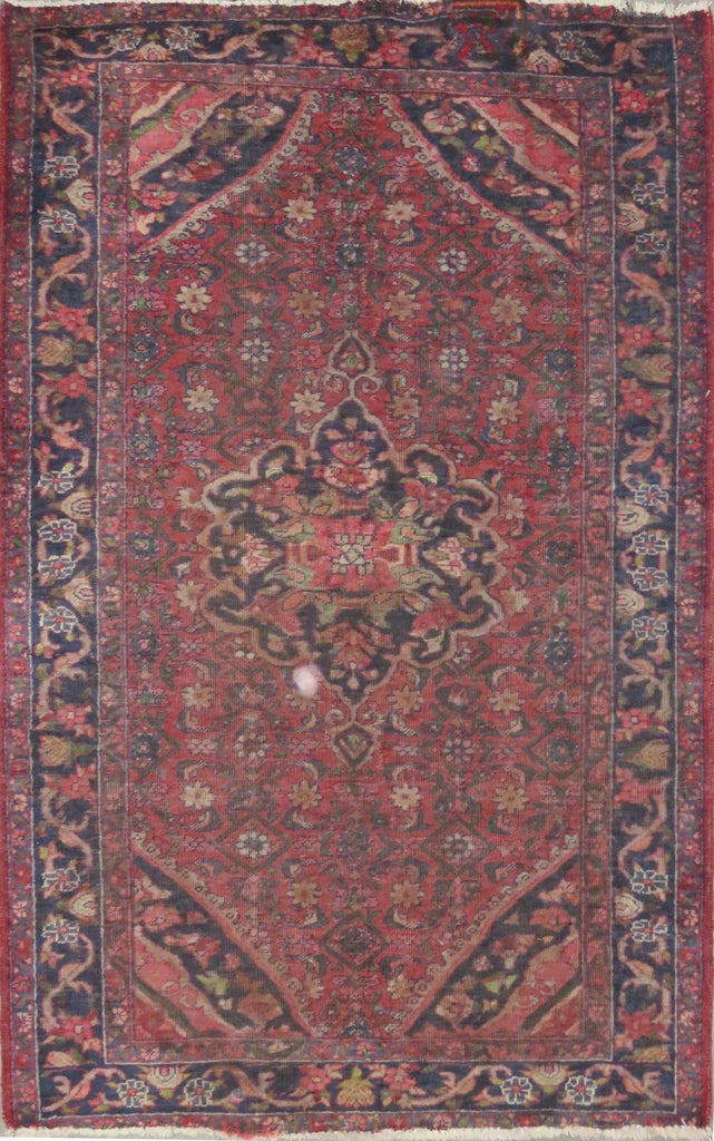 "Persian hamedan Authentic Hand-Knotted Traditonal Vintage Persian Rugs Natural Wool and Cotton Multicolor Area Rug  6'4"" X 4'0"" ABC-PER-2229"