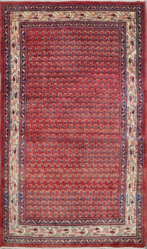 "Persian hamedan Authentic Hand-Knotted Traditonal Vintage Persian Rugs Natural Wool and Cotton Multicolor Area Rug  7'4"" X 4'6"" ABC-PER-2240"