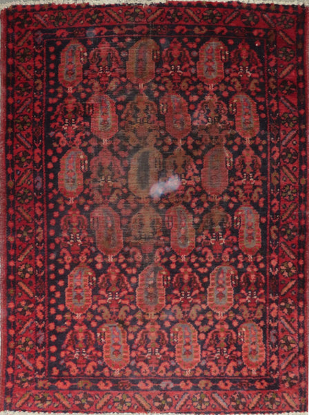 "Persian hamedan Authentic Hand-Knotted Traditonal Vintage Persian Rugs Natural Wool and Cotton Multicolor Area Rug  4'7"" X 3'6"" ABC-PER-2326"