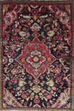"Persian hamedan Authentic Hand-Knotted Traditonal Vintage Persian Rugs Natural Wool and Cotton Multicolor Area Rug  5'10"" X 4'1"" ABC-PER-2355"
