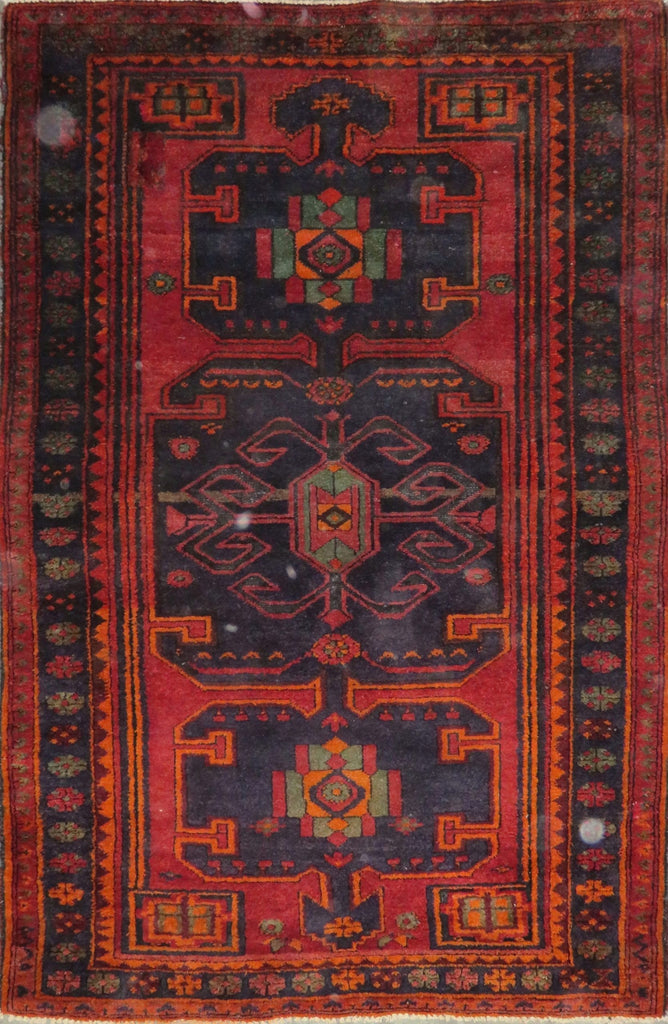 "Persian hamedan Authentic Hand-Knotted Traditonal Vintage Persian Rugs Natural Wool and Cotton Multicolor Area Rug  6'10"" X 4'4"" ABC-PER-2363"