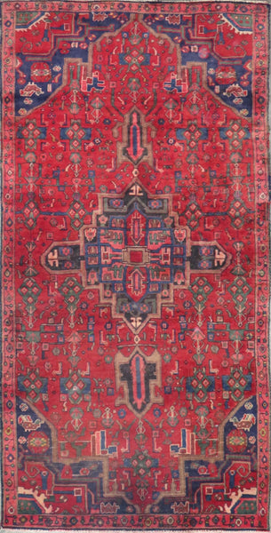 "Persian hamedan Authentic Hand-Knotted Traditonal Vintage Persian Rugs Natural Wool and Cotton Multicolor Area Rug  7'2"" X 3'7"" ABC-PER-2405"