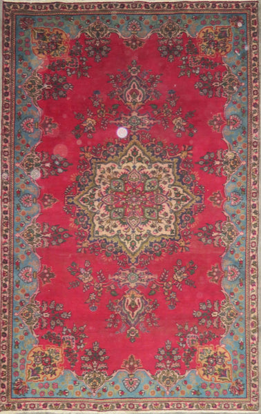 "Persian hamedan Authentic Hand-Knotted Traditonal Vintage Persian Rugs Natural Wool and Cotton Multicolor Area Rug  8'2"" X 5'2"" ABC-PER-684"